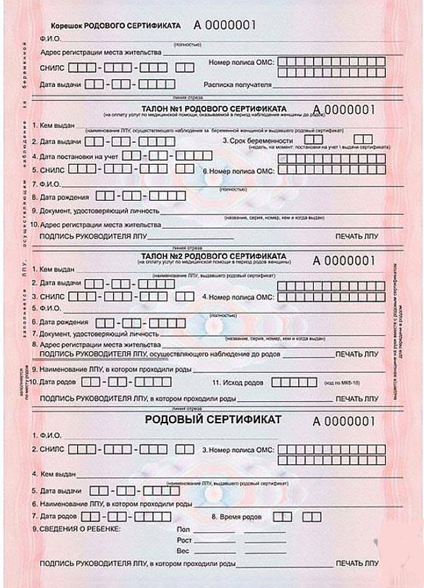 Выдают ли сейчас родовой сертификат